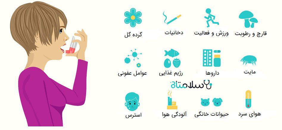 عوامل تشدید کننده آسم